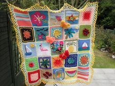 It may be dull outside, but this Blanket brings sunshine! by MRS TWINS, via Flickr