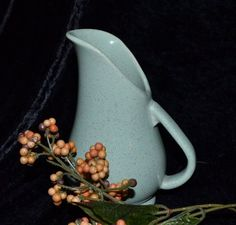 New to ChicMouseVintage on Etsy: Pitcher - Brush McCoy - Mint Green Speckled Pottery  - #932  in Ewer Form - 6 Inch Retro Mid Century (28.00 USD)