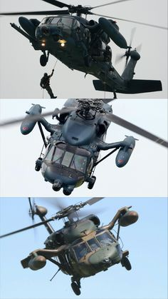 """The Air Self-Defense Force (JASDF) UH-60J is a rescue helicopter based on the U.S. Army multi-purpose helicopter, the UH-60A """"BLACK HAWK"""". The Marine Self-Defense Force (JMSDF) UH-60J also a rescue helicopter based on the JASDF UH-60J, and the Ground self Defense Force(IGSDF)UH-60JA is a multi-purpose helicopter based on the U.S. Army UH-60L. Those are licensed and manufactured with Sikorsky in the U.S. Mitsubishi Heavy Industries is the primary contractor for all of the above."""