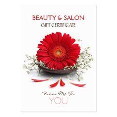 Beauty Salon Gift Certificate Large Business Card Pics4merch