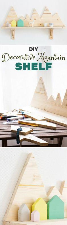 Check out the tutorial: #DIY Decorative Mountain Shelf @istandarddesign