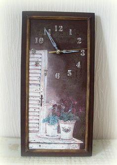"Декупаж - Сайт любителей декупажа - DCPG.RU   Часы ""Простая романтика"" и тарелочка. Click on photo to see more! Нажмите на фото чтобы увидеть больше! decoupage art craft handmade home decor DIY do it yourself clock"