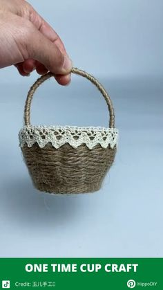 Paper Cup Crafts, Paper Crafts Origami, Cardboard Crafts, Diy Crafts For Home Decor, Diy Crafts Hacks, Diy Crafts For Gifts, Basket Crafts, Jute Crafts, Wicker Baskets