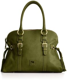 Dooney & Bourke Florentine Domed Buckle Satchel in Green - fantastic color!
