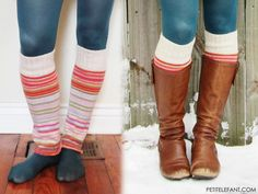 Upcycling sweaters: How to for leg warmers because winter is a-commin'!