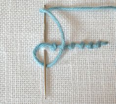 Sarah Whittle - Contemporary Embroidery Artist: stitch A-Z. This is a really great site for stitches! jwt Coral Stitch shown.