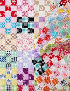 Nine Patch Checkerboard Quilt | Red Pepper Quilts http://www.redpepperquilts.com/2014/10/nine-patch-checkerboard-quilt.html