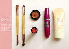 TOP 5 Maquiagens Até R$50 | New in Makeup
