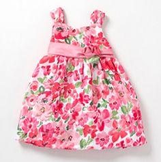 Infant Floral Print Shantung - Baby Dresses - Events