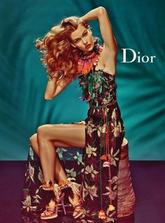 curls with Karlie Kloss in Dior ad