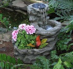 Backyard Water Fountains 20 Solar Water Fountain Ideas For Your Garden   Garden Lovers Club