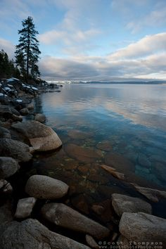 """""""Boulders at Lake Tahoe 28"""" - These boulders were photographed in the morning near Memorial Point, Lake Tahoe."""