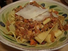 Recipe: Veal Bolognese with Pappardelle & Shaved Parmesan