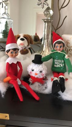 Elves building a snowman! The Elf, Elf On The Shelf, Build A Snowman, Shelf Ideas, Christmas Traditions, Elves, Sparkle, Holiday Decor, Nails