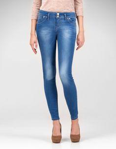 Double button slim fit jeans