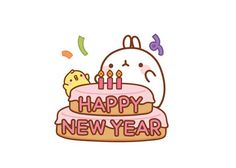 Happy New Year with Molang