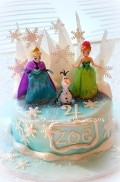 Frozen cake  gâteau La reine des neiges