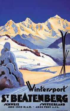 Vintage Ski Poster | St Beatenberg