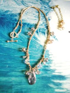 RAW Amethyst and Hand Braided Silk Necklace by oceangirlcollection, $60.00