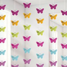 Butterfly Hanging String Decoration - 2.1m