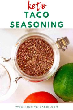 You are going to love this easy to make Keto Taco Seasoning Recipe! Homemade tastes so much better than what you buy and this diy recipe works just as well for ground beef as it does chicken. Perfect for your low carb and gluten free diet. #keto #ketotacoseasoning #ketorecipes