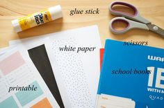 Printable school book covers