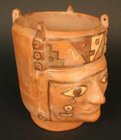 Vaso retrato cultura Tiwanaku