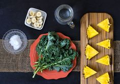 Green Smoothie: Pineapple, Kale, Coconut Oil recipe