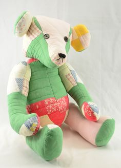 Teddy Bear made from an old quilt