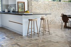 Charlotte Parquet de Versailles from our Antique collection - Woodworks by Ted Todd. #Kitchen #InteriorDesign #Interior #Home #AntiqueWoodFlooring #AntiqueWoodFloor #Antique