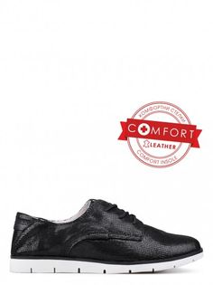 Dámske topánky z pravej kože TENDENZ - čierna