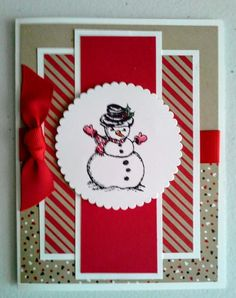 Christmas cards handmade design ideas 1 - Karten I-K - christmas Homemade Birthday Cards, Homemade Christmas Cards, Christmas Cards To Make, Christmas Paper, Homemade Cards, Handmade Christmas, Holiday Cards, Christmas 2019, Christmas Greetings