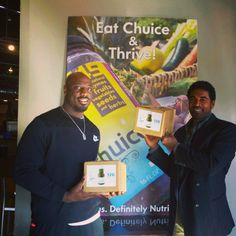 """""""I love eating Chuice during training. It gives me energy and keeps me full."""" - Justin Houston, linebacker for the Kansas City Chiefs, picking up his cases of Chuice. #Chuice #healthyeating #energy #fuel #makinghealthyhappen #chewinthis #KCchiefs #NFL #keepitreal"""