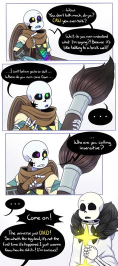 are you talking to your paint brush. Undertale Fanart, Undertale Comic, Error Sans, Sans And Papyrus, Just Ink, Haikyuu Ships, Homestuck, Crane, The Incredibles