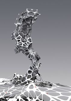 Parametric Design research. Component transformation, from facet to curved surfaces.Generated by rhino Scripting. Parametric Architecture, Parametric Design, Futuristic Architecture, Architecture Design, Architecture Diagrams, Architecture Portfolio, Futuristic Art, Abstract Sculpture, Sculpture Art