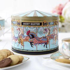 Merry Go Round Musical Biscuit Tin | Fortnum & Mason.