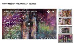 MIXED MEDIA SILHOUETTES ART JOURNAL – Mixed Media Art Tutorials