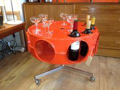 60s wine table