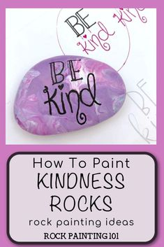 Learn how to paint kindness rocks with these tips and tricks. We have loads of video tutorials that walk you through how to hand letter, create base coats, and even seal your rocks. Perfect for hiding around your city or giving as a gift, to brighten someone's day. #kindness #spreadkindness #paintedrocks #rockpainting101 What Is Kindness, Kindness Rocks, Pour Painting, Stone Painting, Rock Sayings, Rock Painting Ideas Easy, Painted Sticks, Beautiful Rocks, Inspirational Message
