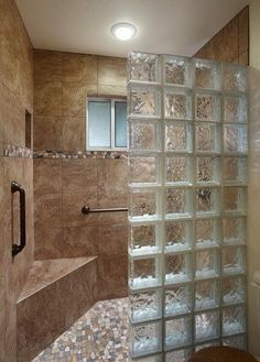 3 Mind Blowing Diy Ideas: Bathroom Remodel Bedrooms simple guest bathroom re. 3 Mind Blowing D Small Shower Remodel, Guest Bathroom Remodel, Bathroom Remodeling, Bath Remodel, Glass Block Shower, Bathroom Photos, Bathroom Ideas, Bathroom Storage, Bathroom Closet