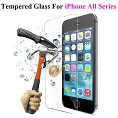 2.5d 0.3mm templado superior de cristal protector de pantalla para iphone 5 5s 5se 6 6 s 6 Plus Para el ipod touch 4 4S Endurecida Protectora película