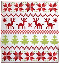 (7) Name: 'Quilting : Fair Isle Christmas Quilt Pattern