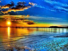 Beautiful Beach Sunset Wallpaper - WallpaperSafari