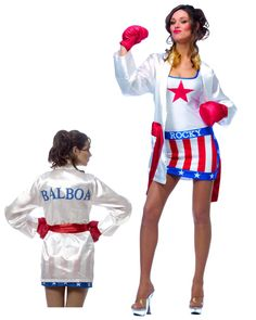 Rocky Balboa Female Costume for Adult,$31.96