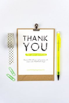 Business thank you cards template instant download naturally thank you for your order card printable instantly download customize and begin printing within minutes wajeb Gallery