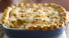 Classic Chicken Pot Pie: Enjoy this classic pot pie that's made using chicken, peas and carrots topped with puff pastry – a tasty dinner recipe. Use our classic pie crust recipe to make this the best homemade chicken pot pie Homemade Chicken Pot Pie, Chicken Recipes, Cooked Chicken, Recipe Chicken, Chicken Pot Pie Betty Crocker Recipe, Fried Chicken, Classic Chicken Pot Pie Recipe, Freezer Chicken, Turkey Chicken