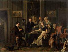 EECKHOUT Jacques Joseph (1793 – 1861) Schaakspel. 1823