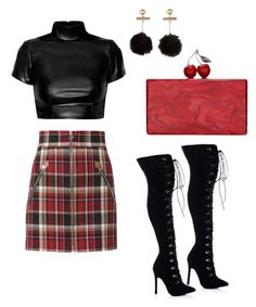 """Cherry bomb"" by alysha-miranda on Polyvore featuring rag & bone and Edie Parker"