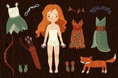 Dress up paper fairy doll by Hidden kingdom on @creativemarket