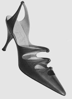 Elegant kitten heels were so popular. Vintage Style Shoes, Vintage Boots, Sock Shoes, Shoe Boots, Shoes Sandals, Fashion Shoes, Fashion Accessories, Shoes Ads, 1960s Fashion